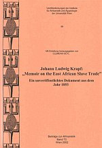 Buchcover: Memoir on the East African Slave Trade